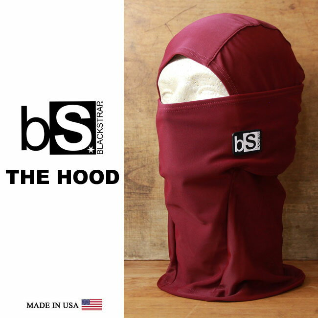 フェイスマスク スノーボード 防寒 バラクラバ Blackstrap / ブラックストラップ THE HOOD [BS9] [WINE] 【MADE IN USA】[メール便対応] snowboard ski スノボ スキー ネックウォーマー balaclava facemask登録