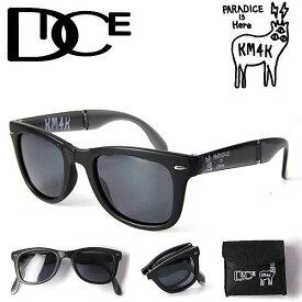 【5%還元店!】偏光サングラス メンズ ダイス DICE × KM4K [ PDG-01 ](MatteBLACK) サングラス カモシカ 折りたたみサングラス