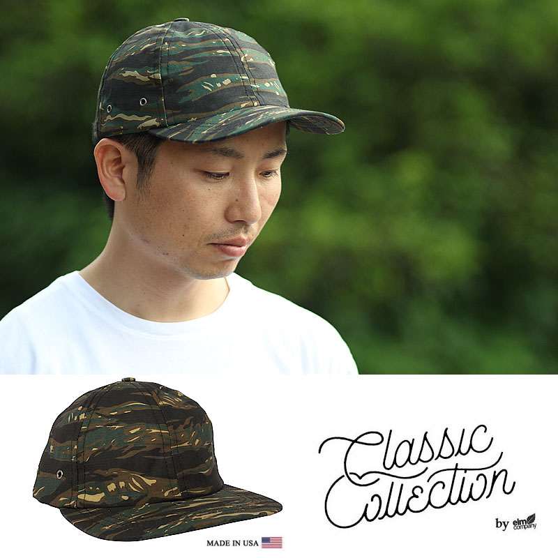 Classic Collection by elm company / エルムカンパニー CC17M Mira-6 Panel Hat (T.CAMO) made in USA 米国製【CSV0415】 3tz