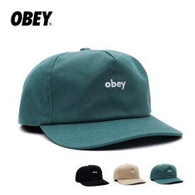 オベイ キャップ OBEY (100580273) LOWERCASE SNAPBACK 帽子 メンズ レディース obeyclothing [210615]