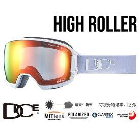 【5%還元&全品5倍+SPUで10/15は最大27倍!】ダイス ゴーグル ハイローラー 18-19モデル DICE [ HR80892MAW ] HR pMIT-GRRDd-PAF (MAW) 偏光レンズ MITレンズ スノーボード スキー goggle [1001]