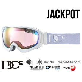 【5%還元店!】ダイス ゴーグル ジャックポット 18-19モデル 18-19モデル DICE [ JP81361MAW ] JKP pM/PIPPd-PAF (MAW) 偏光レンズ ミラー スノーボード スキー goggle [1001]