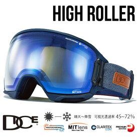 【30-1日は全品P5倍〜】【MITミラー調光レンズ】ダイス ゴーグル ハイローラー 19-20モデル DICE [ HR95191NAV ] HIGHROLLER-cMIT-CBLd-PAF NAV スキー スノーボード goggle [1002]