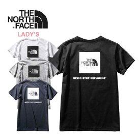 ノースフェイス レディース Tシャツ THE NORTH FACE [ NTW32038 ] S/S SQ LOGO TEE ショートスリーブスクエアーロゴティー 半袖 [メール便] [0420]【Y】【SPS03】