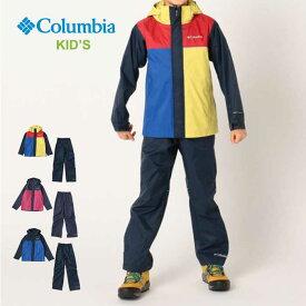【20日SPUでP最大16倍】コロンビア キッズ レインウェア 上下セット Columbia RY0020 Simpson Sanctuary II Rain Set レインセット 防水 ジャケット パンツ [200905]【SPS12】
