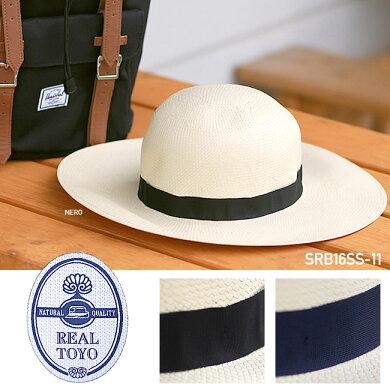 麦わら帽子ストローハットREALTOYO[SRB16SS-11]つば広ハットHATレディースイタリア製