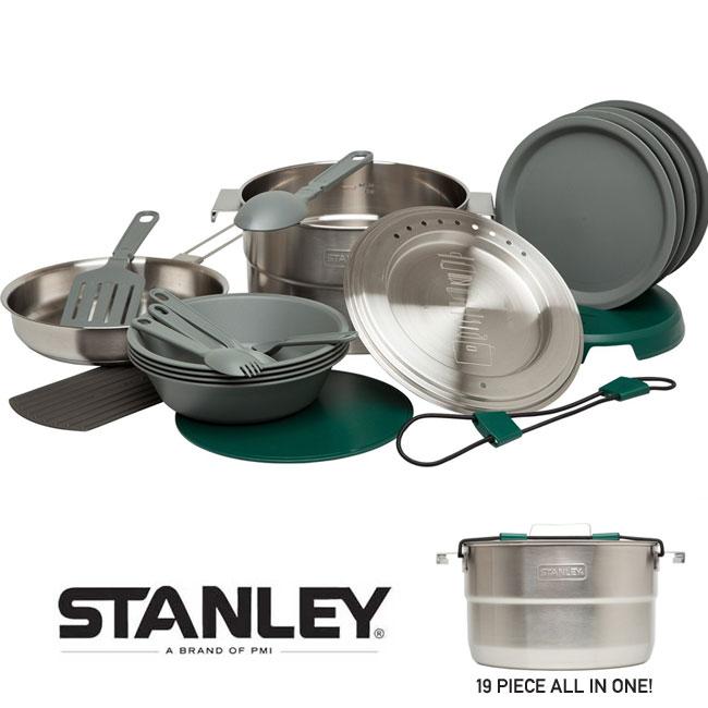 スタンレー アウトドア食器セット STANLEY【BASE CAMP COOK SET 4X】[19ピースセット] 鍋 フライパン アウトドア キャンプ ギフト