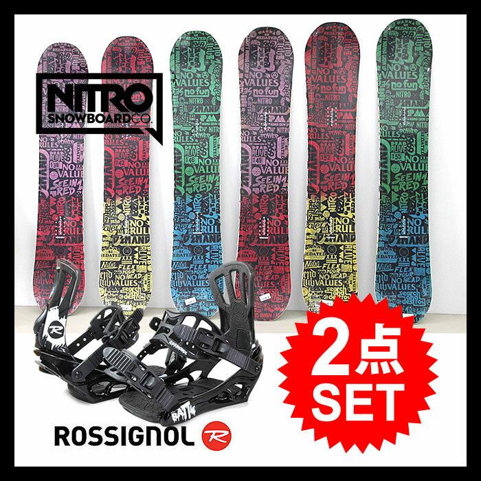【エントリーでポイントアップP9倍〜 】【2点セット】スノーボード ビンディング ROSSIGNOL ロシニョール BATTLE V1 + NITRO ナイトロ DEMAND LTD スノボー バインディング snowboard【SPS】