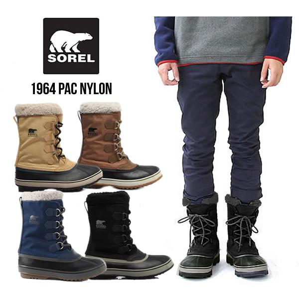 ソレル ウインターブーツ 《メンズ》 SOREL 1964 PAC NYLON (NM1440) 1964パックナイロン 防水 防寒靴 寒冷地 スノーブーツ 防寒ブーツ