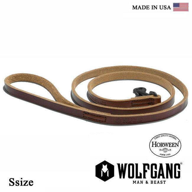 犬 リード WOLFGANG MAN & BEAST ウルフギャング HORWEEN LEASH 【Ssize/小型・中型犬用】 HL-001-2」 レザーリーシュコード [MADE IN USA] おしゃれ 犬の紐(中型犬 大型犬) リード 20P
