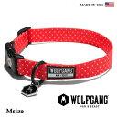 首輪 犬 犬首輪 WOLFGANG MAN & BEAST ウルフギャング POLKA DOG COLLAR 【Msize/中型犬用】WC-002-21 ポリエ...