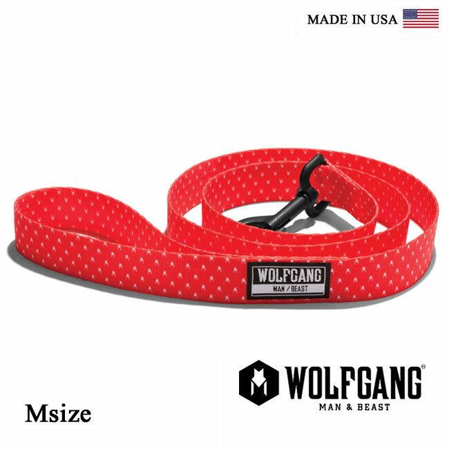 【全品ポイント5倍-15倍&SALE】犬 リード WOLFGANG MAN & BEAST ウルフギャング POLKADOG LEASH 【Msize/中型・大型犬用】 WL-002-21 ポリエステルリーシュコード [MADE IN USA] おしゃれ 犬の紐(中型犬 大型犬)リード[メール便対応]