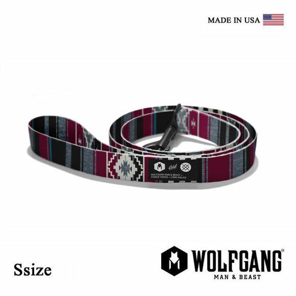 犬 リード WOLFGANG MAN & BEAST ウルフギャング STANCE LEASH 【Ssize/小型犬用】WL-001-71 ナイロンリーシュコード [MADE IN USA] おしゃれ 犬の紐(中型犬 大型犬)スタンス ソックス リード[メール便対応]