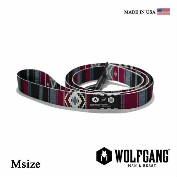 犬 リード WOLFGANG MAN & BEAST ウルフギャング STANCE LEASH 【Msize/中型犬用】WL-002-70 ナイロンリーシュコード [MADE IN USA] おしゃれ 犬の紐(中型犬)スタンス ソックス リード[メール便対応]