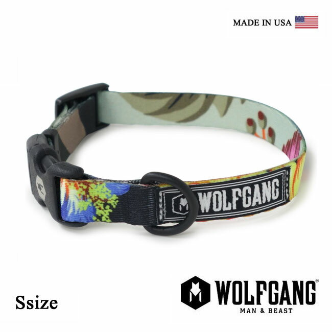 【全品ポイント5倍-15倍&SALE】WOLFGANG MAN & BEAST ウルフギャング TREELOGIC COLLAR【Ssize/小型犬用】WC-001-72 ポリエステルカラー [MADE IN USA] 首輪 くびわ [メール便対応] 3tz2