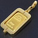 日本マテリアル 24金 純金 インゴット 50g ペンダントトップ 枠脱着可能 ゴールドバー K24(50459)