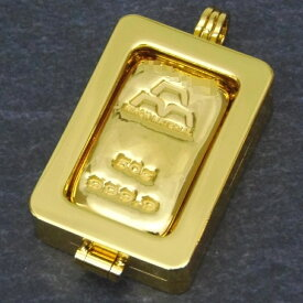 【エントリーでポイントUP!】 【新品】日本マテリアル 24金 純金 インゴット 50g ペンダントトップ 枠脱着可能 ゴールドバー K24(50459)