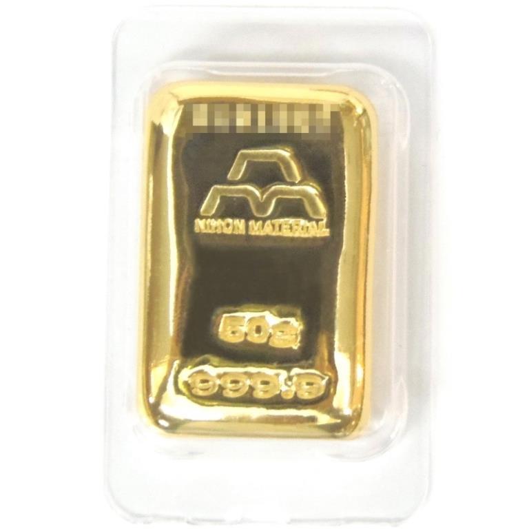 日本マテリアル NIHON MATERIARL インゴット 50g 純金 24金 ゴールドバー ingot/ゴールド/K24(38131)