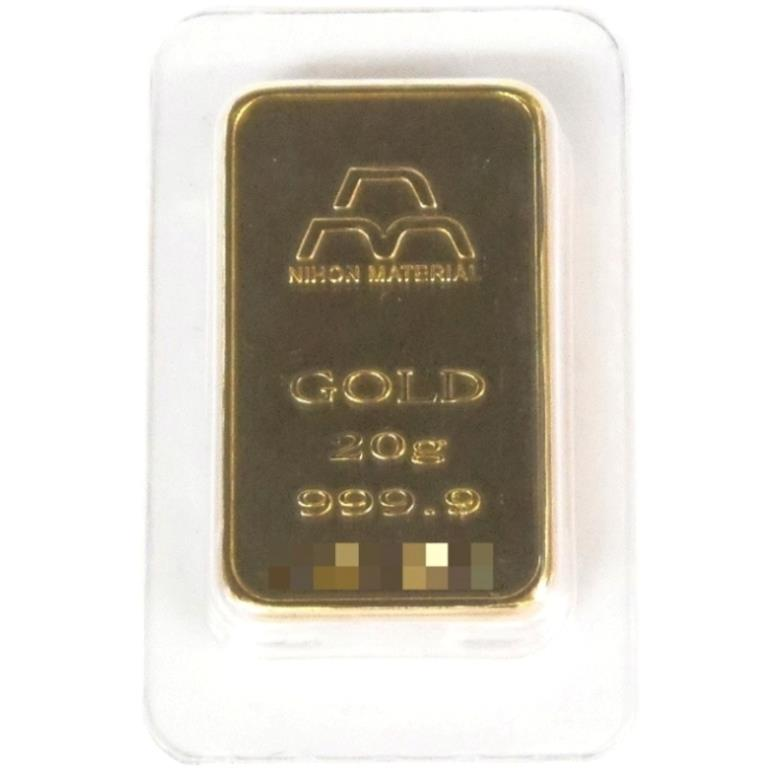 日本マテリアル NIHON MATERIARL 純金 インゴット 20g 24金 ゴールドバー ingot/ゴールド/K24(39025)