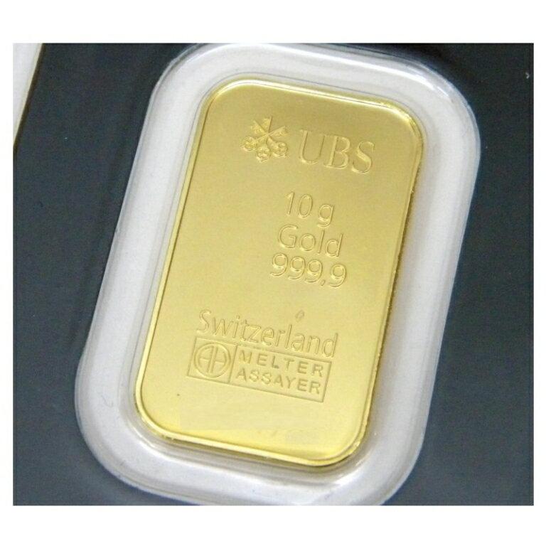 UBS 純金 インゴット 10g ゴールドバー 24金 ingot/K24(39394)(39394)