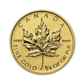 金貨 メイプルリーフ金貨 1/4oz ランダムイヤー メープルリーフ金貨 1/4オンス 7.7g 純金(45074)