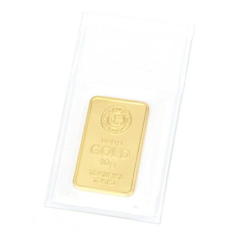 徳力本店 純金 インゴット 10g ゴールドバー 24金 ingot /ゴールド/K24(40562)