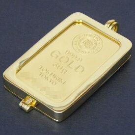 徳力本店 24金 純金 インゴット ペンダントトップ 30g 枠脱着可能 ゴールドバー K24 ingot(50458)