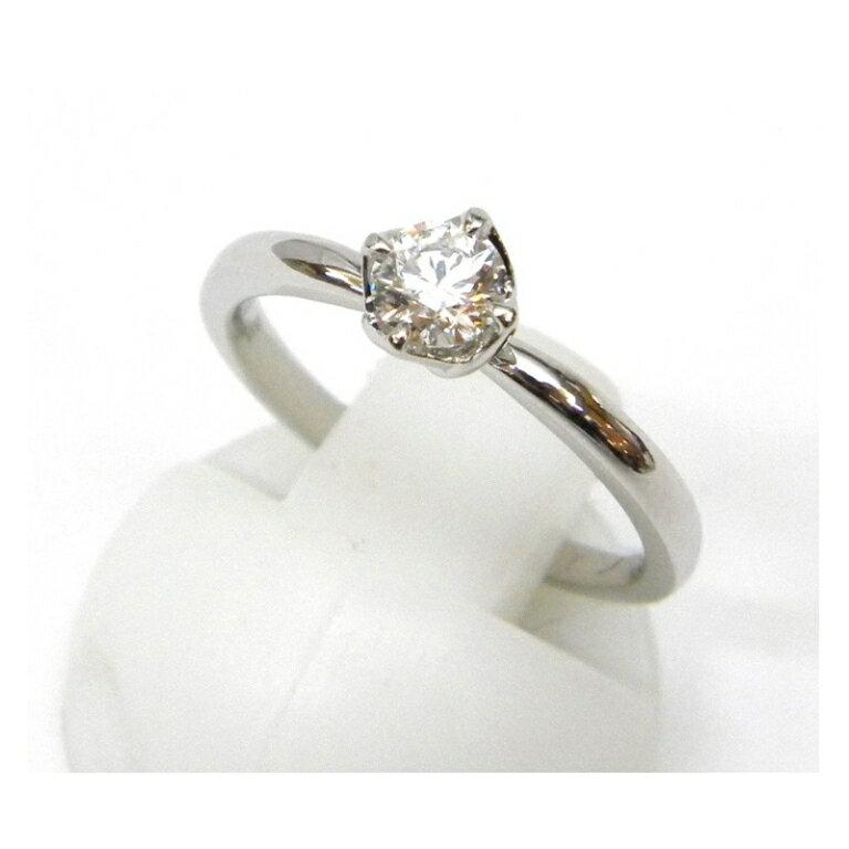 俄 NIWAKA 指輪 ダイヤ立爪指輪 0.281ct #8 F VS1 3EX ダイヤモンド/