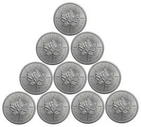 【P5倍!楽カ&エントリー】【最大3万円クーポン】 銀貨 メイプルリーフ銀貨 1oz 2021年 10枚セット(10オンス) クリアケース入り 1オンス メイプル銀貨 カナダ王室造幣局発行 Silver Coin(55289)