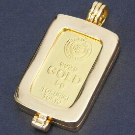 純金 インゴット ペンダントトップ 徳力本店 24金 5g 枠脱着可能 ゴールドバー K24 ingot(51907)