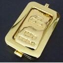 日本マテリアル 純金 インゴット 100g 24金 ペンダントトップ 枠脱着可能 新品 ゴールドバー K24(50460)