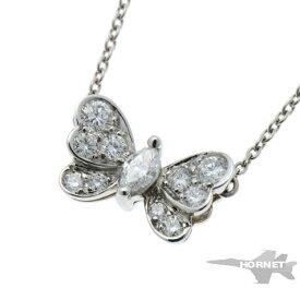 Tiffany&Co. ティファニー バタフライ 蝶 ダイヤ ネックレス プラチナ PT950 【中古】 1910220