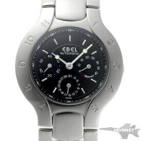 EBEL エベル リシン スリーインジゲーター オートマチック 9964970 ブラック文字盤 SS 【中古】【時計】 2000105
