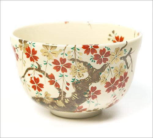 【茶道具 抹茶碗】茶碗 仁清 枝垂桜 宮地英香作