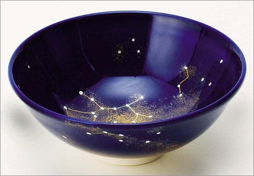 星座茶碗 瑠璃釉 射手座 八木海峰作