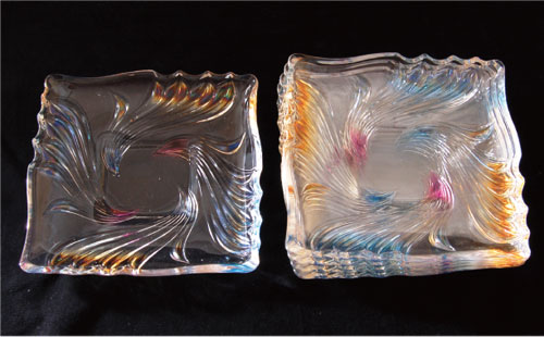 【茶道具 菓子器】ガラス小皿(5枚セット)
