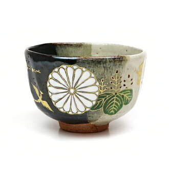 It is bowl Japanese Imperial Household crest crest Chinese phoenix picture Ryoji Nakamura product for an ash glaze hook
