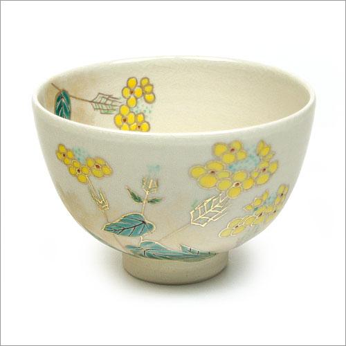 【茶道具 12ヶ月の抹茶碗】3月の抹茶碗 菜の花 田中啄也作