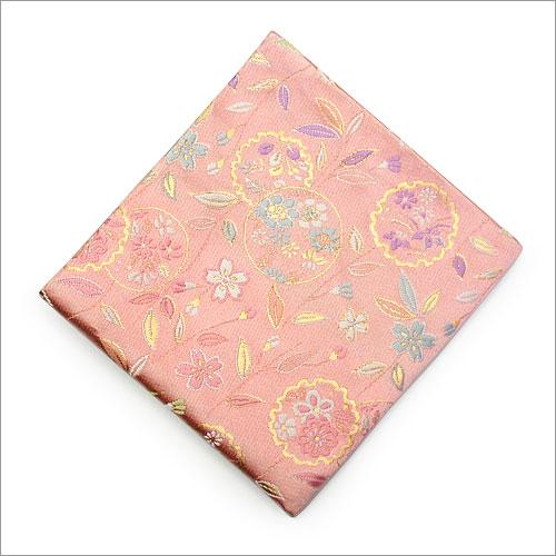 【茶道具 出帛紗/出袱紗】出帛紗 柳桜に花の丸 正絹