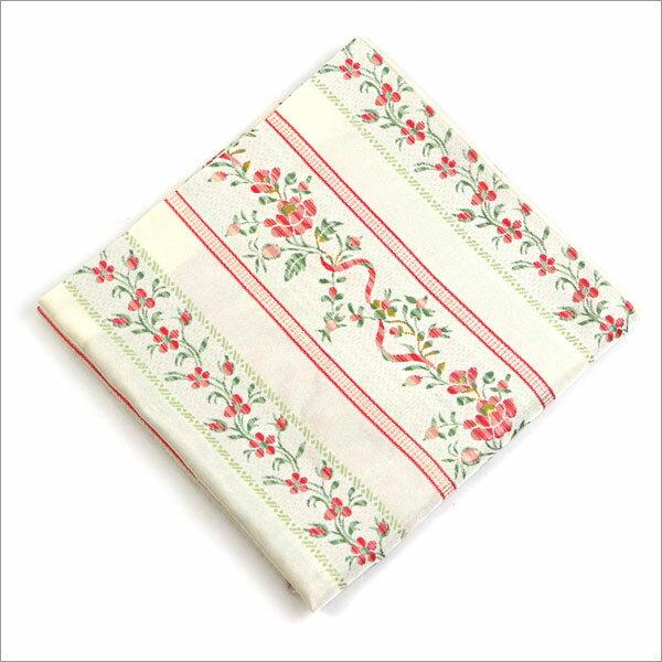 【茶道具 出帛紗/出袱紗】出帛紗 段草花文様 白 正絹