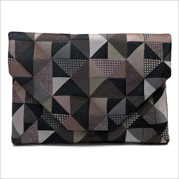 【茶道具 数奇屋袋】数寄屋袋 交織 幾何学模様和風バッグインバッグとして 和装 着物 浴衣のバッグ 小物入れ