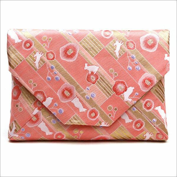 【茶道具 数奇屋袋】数寄屋袋 交織 梅とうさぎ和風バッグインバッグとして 和装 着物 浴衣のバッグ 小物入れ