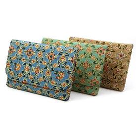 茶道具 横型ファスナー付き数寄屋袋花鳥文 綿製