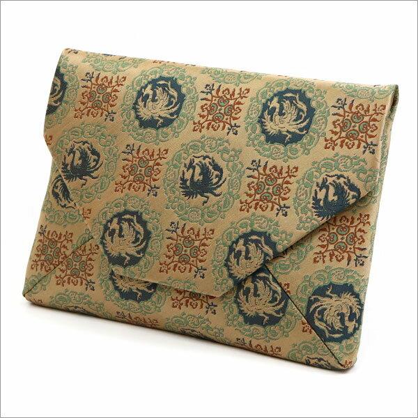 【茶道具 数奇屋袋・和風バッグ】ファスナー付き数寄屋袋 鳳凰紋 正絹 名物裂和風バッグインバッグとして 和装 着物 浴衣のバッグ 小物入れ