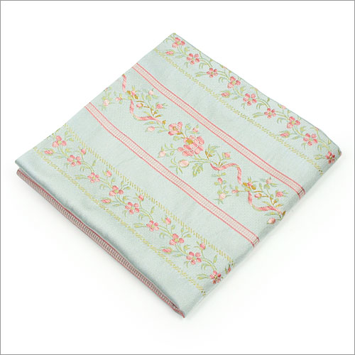 【茶道具 出帛紗/出袱紗】出帛紗 段草花文様 水色 正絹
