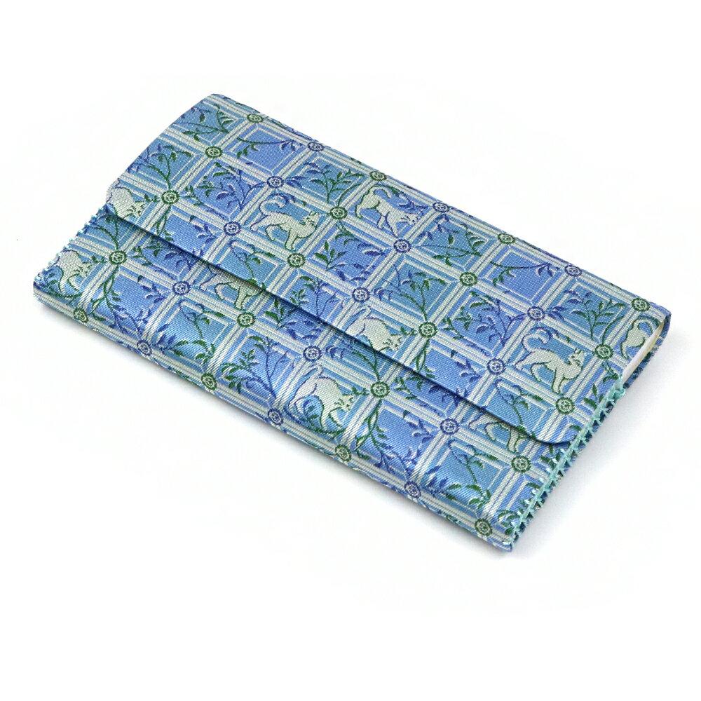 茶道具 茶道 懐紙入れ 正絹 チョーカーの猫 龍村美術織物