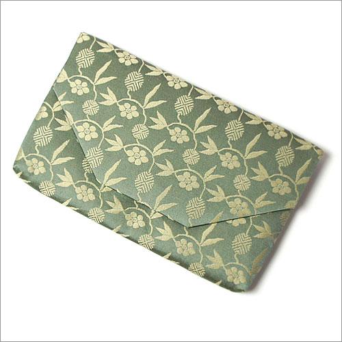 【茶道具 袱紗挟み/懐紙入れ】ボタン・ファスナー付き帛紗ばさみ 笹蔓 正絹和風のバッグインバッグとして