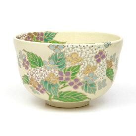 茶道具 抹茶碗 茶碗 仁清 紫陽花 宮地英香作