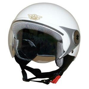 ジュニア用 ヘルメット【DAMMTRAX[ダムトラックス]】 ダムキッズ ポポGT ホワイト 白 バイク用 子供用 キッズ ヘルメット