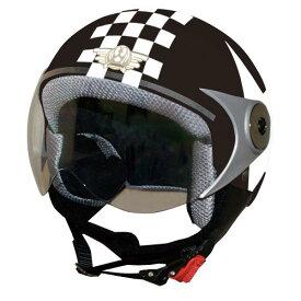 ジュニア用 ヘルメット 【DAMMTRAX[ダムトラックス]】 ダムキッズ ポポGT ブラック 黒/STAR バイク用 子供用 キッズ ヘルメット